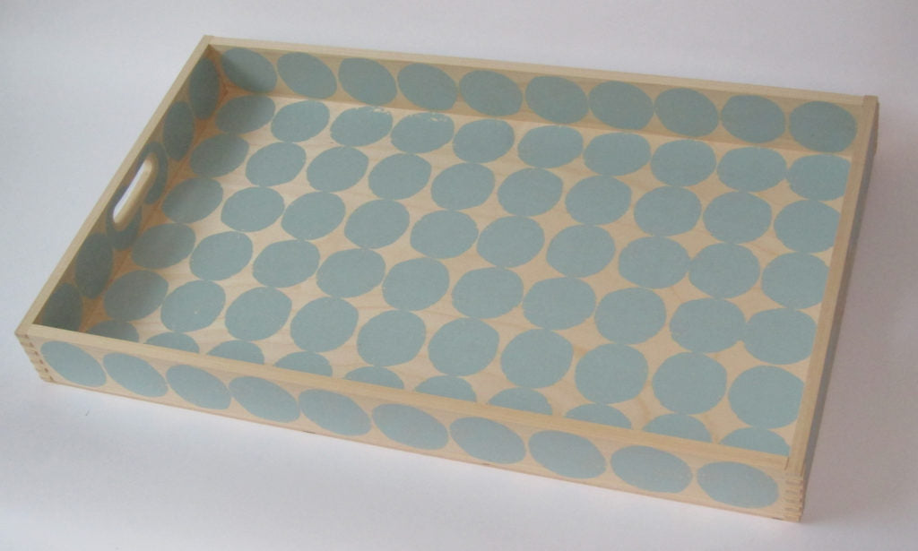 Screen printed tray
