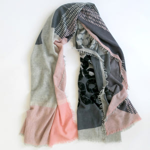 XO 100% cashmere scarf - PilgrimWaters | designer & makers