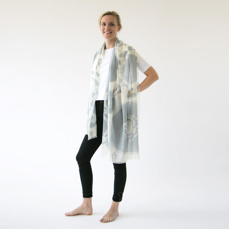 Cashmere and merino | Bloom scarf - PilgrimWaters | designer & makers