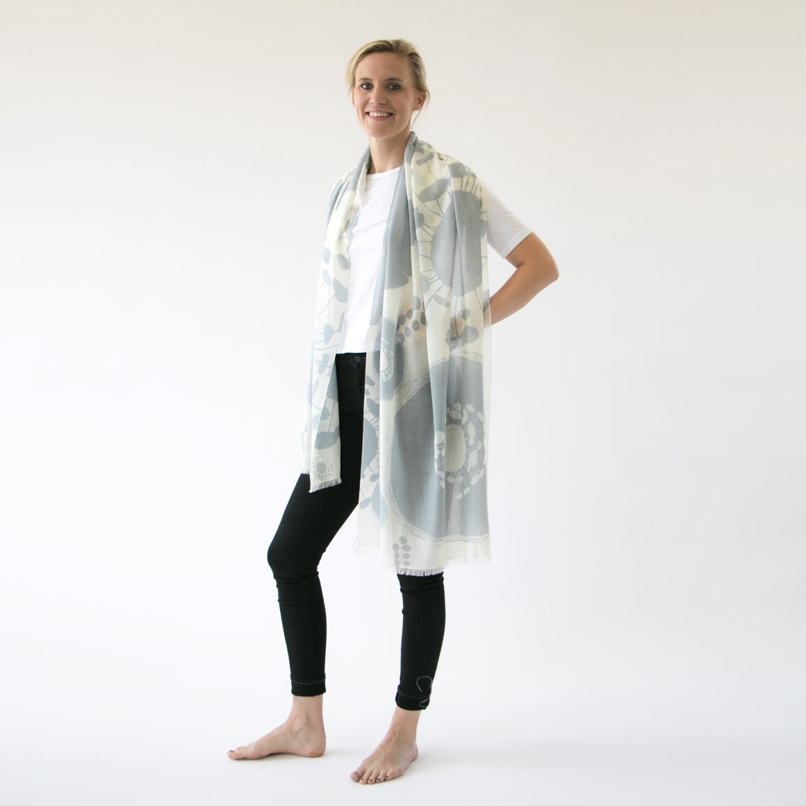 Cashmere & merino | Bloom scarf - PilgrimWaters | designer & makers