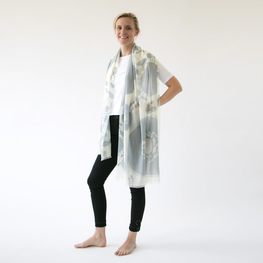 Cashmere & merino | Bloom scarves - PilgrimWaters | designer & makers