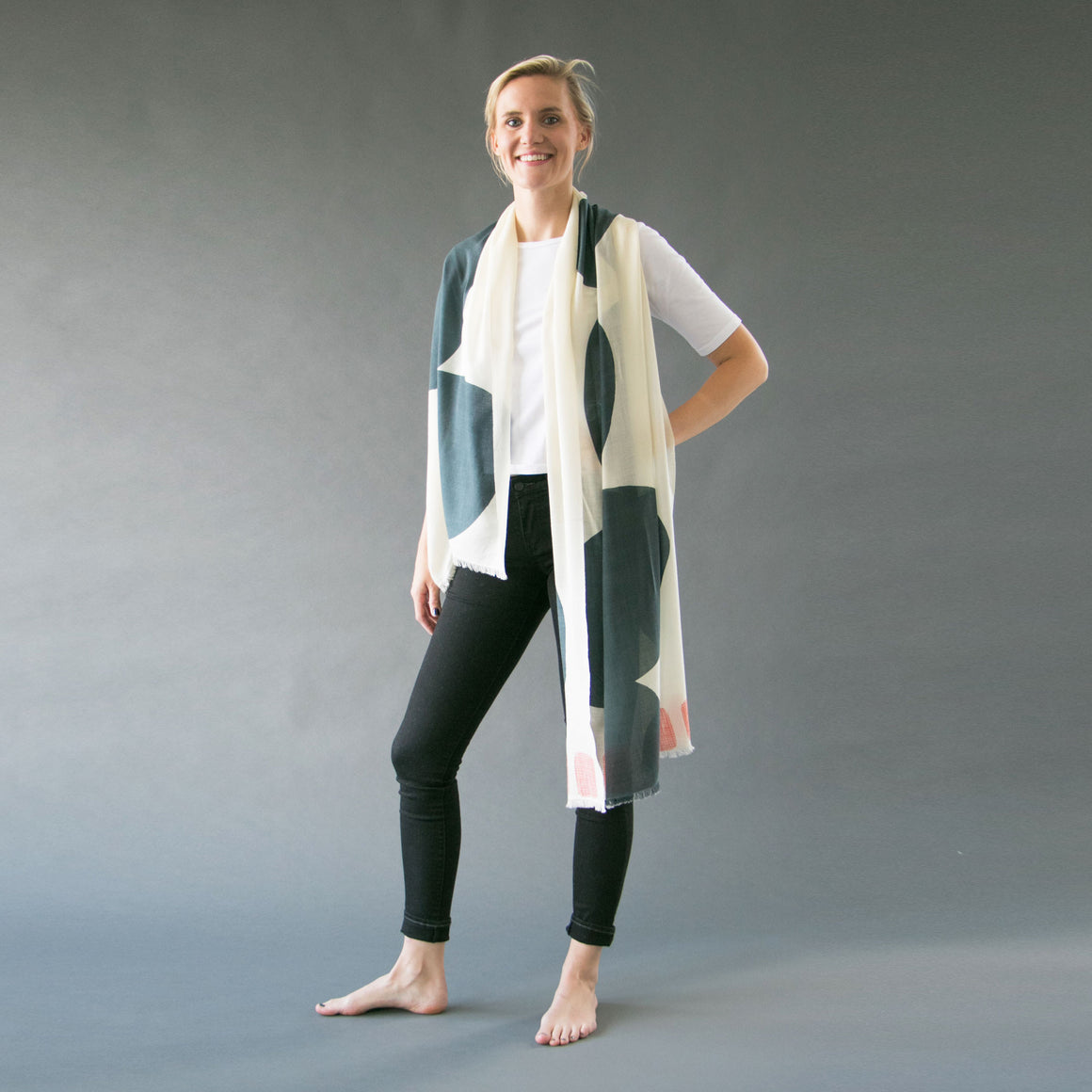 Cashmere and merino | Boulder scarf - PilgrimWaters | designer & makers
