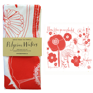 Tea Towel | Bloom 100 % cotton - PilgrimWaters | designer & makers