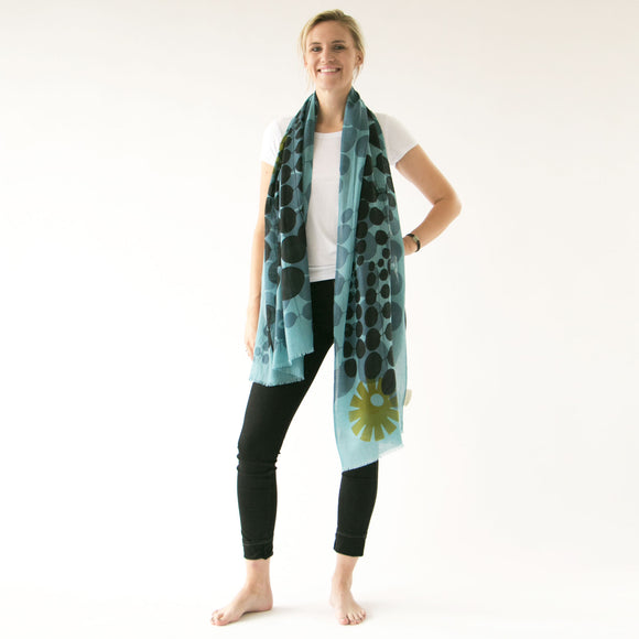 Cashmere and merino | Echo escape scarf - PilgrimWaters | designer & makers