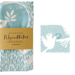 Tea Towel | Dove 100% cotton - PilgrimWaters | designer & makers