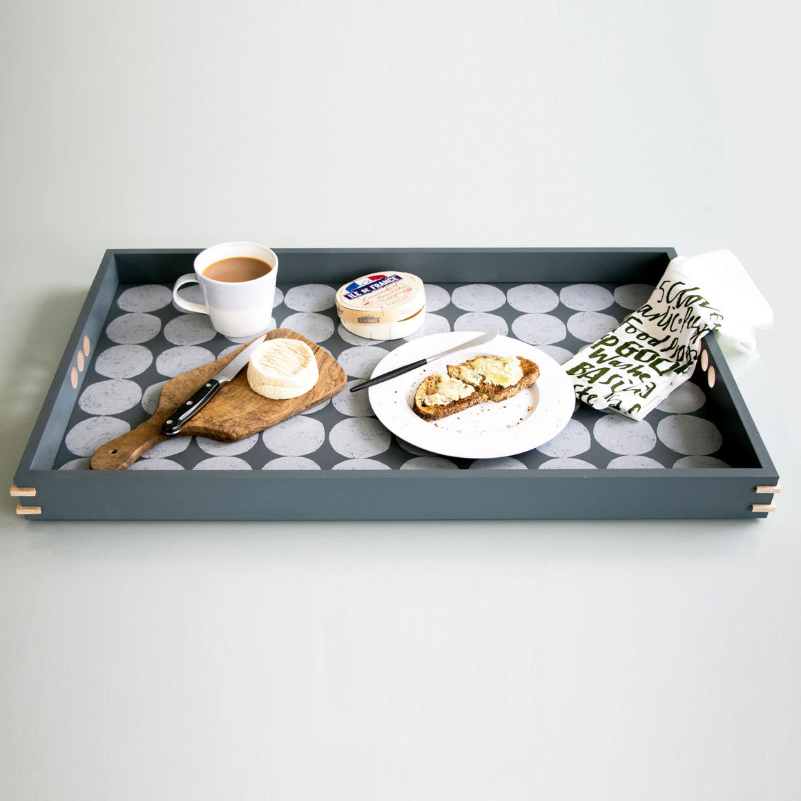 Side table and slim large tray