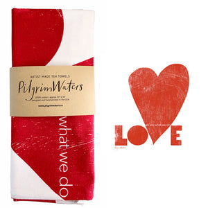 Tea Towel | Love 100 % cotton - PilgrimWaters | designer & makers