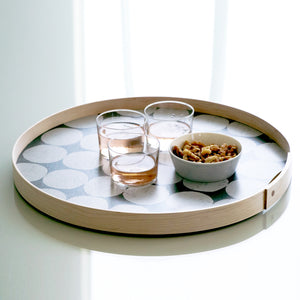 Round tray | handmade USA - PilgrimWaters | designer & makers