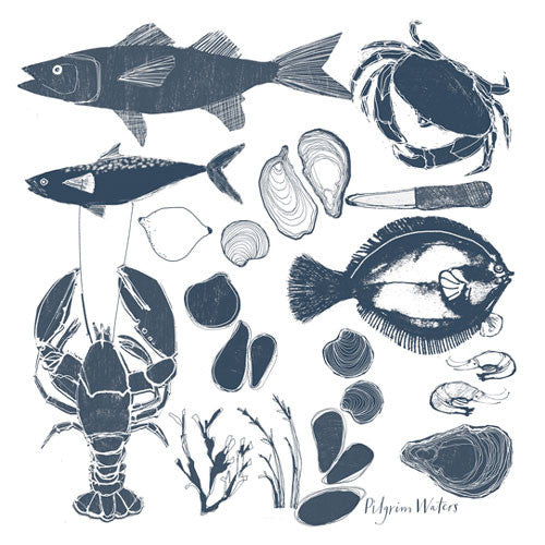 Tea towel Seafood