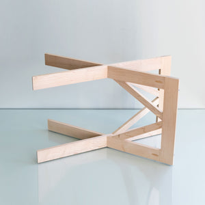 Tray stand | large maple handmade USA - PilgrimWaters | designer & makers