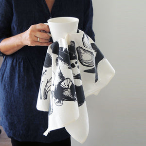 Tea Towel | Seafood 100% cotton - PilgrimWaters | designer & makers
