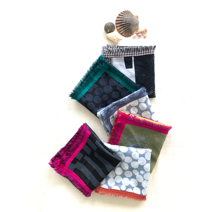 Mini square scarf | cotton silk - PilgrimWaters | designer & makers