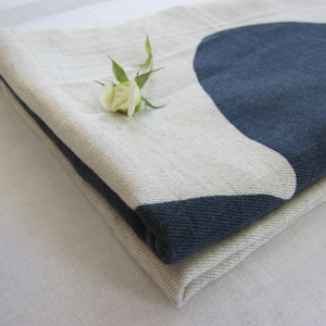 Throw Boulder | silk & wool - PilgrimWaters | designer & makers