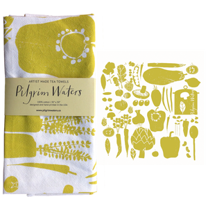 Tea Towel | Veggie 100% cotton - PilgrimWaters | designer & makers