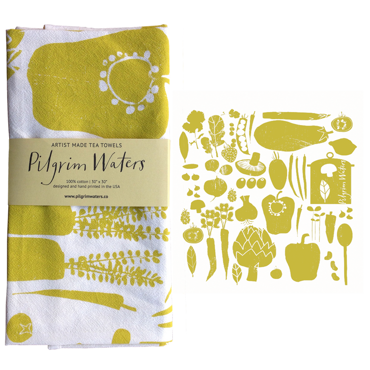Tea Towel Veggie | 100% cotton - PilgrimWaters | designer & makers