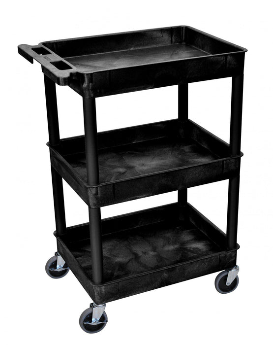 Luxor 3 Tier Cart, (3 Tubs, Round Legs) - International Tool Company