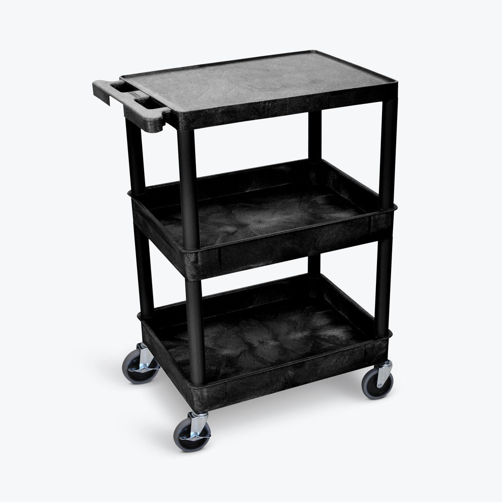 Flat Top and Tub Middle/Bottom Shelf Cart - International Tool Company