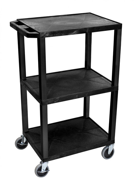 Luxor - 3 Tier Cart, (3 Flat Tops, Square Legs) (Height 108cm) - International Tool Company