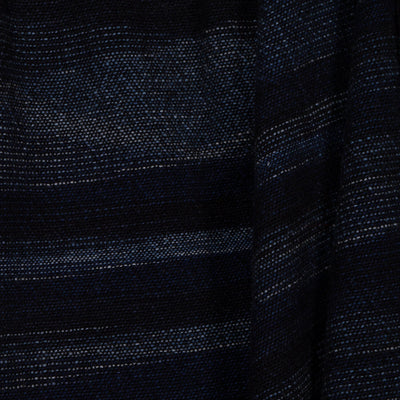 Throw dark blue gradient 100% Merino
