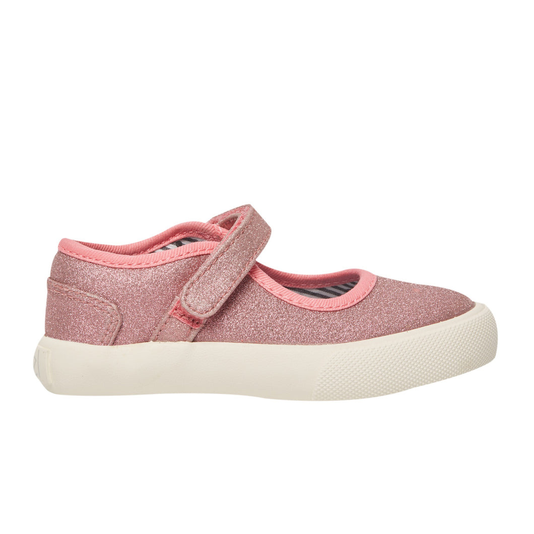 The perfect pink Dazzler  Mary Jane sneaker.  It sparkles in the sunlight and is a perfect children's shoe.