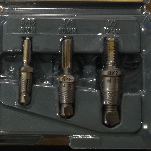 Drill-out Set A301C  3 pc set for 5/16- 1/2