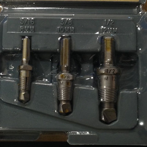 "Drill-out Set A301C  3 pc set for 5/16- 1/2"", 8-12mm"
