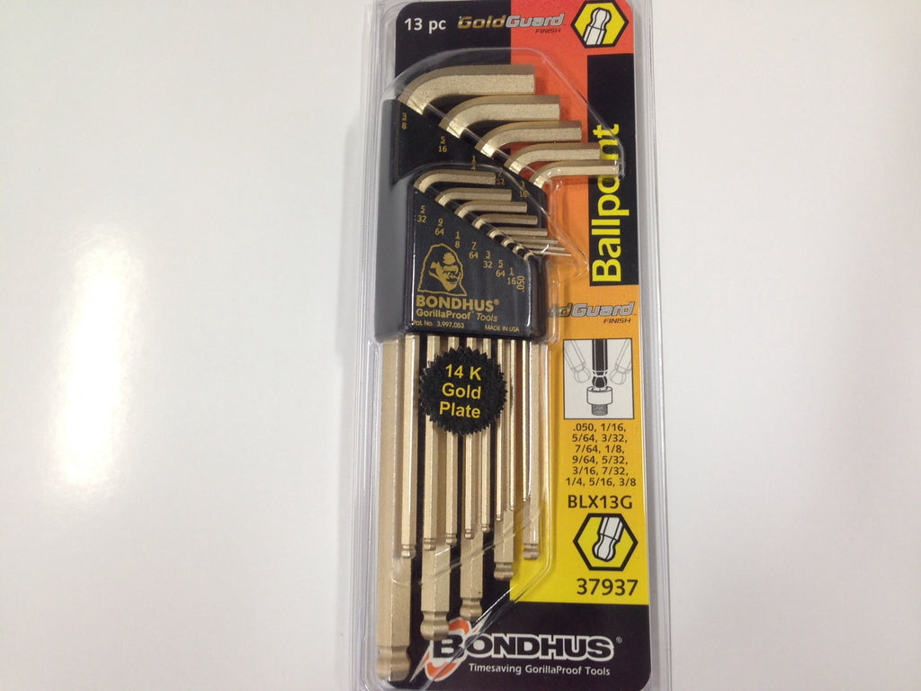 14K Gold Plated Bondhus® Ballpoint Hex Key Sets