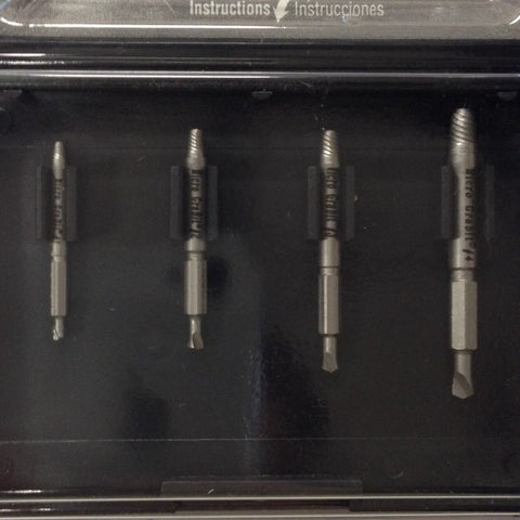 "Drill-out Set P450 for #5-1/4"", M3-M6, 4 pc micro drill-out kit"