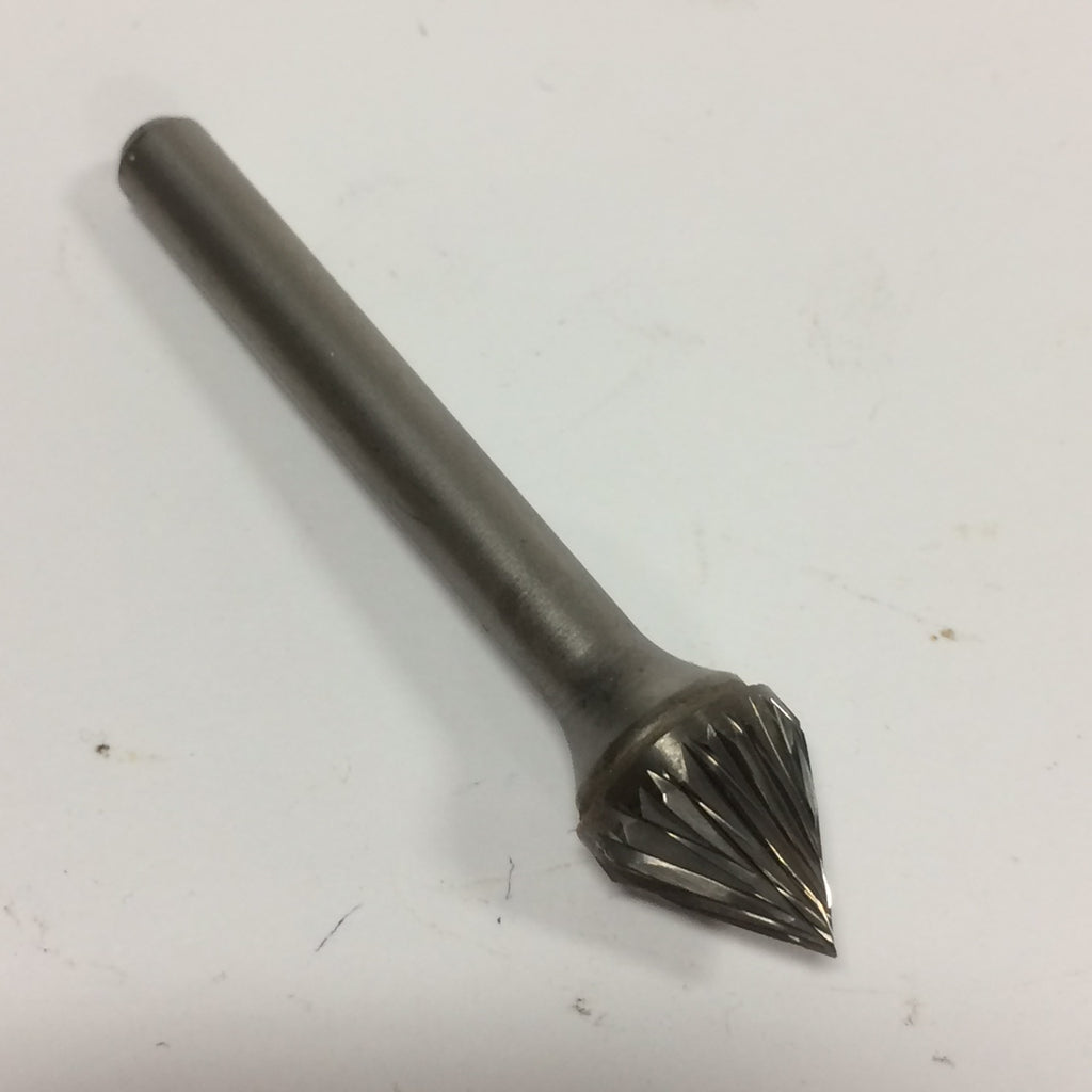 Style J 60° Included Angle Carbide Burrs