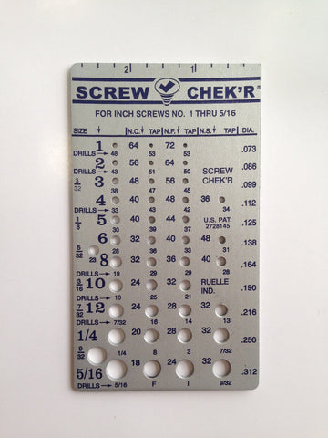 SC.02110 Screw Chek'r/Indentifier (Inch), Metal