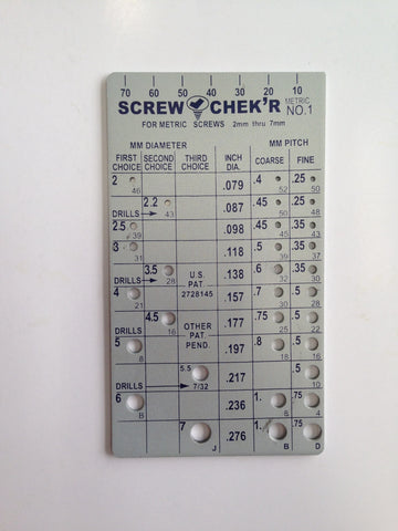 SC.02120 Screw Chek'r/Indentifier (Metric), Metal