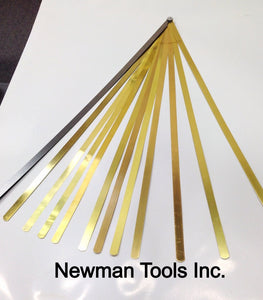 "6"" Long Brass Feeler Gage Set"
