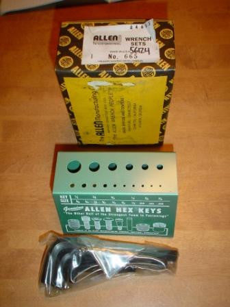 Allen Wrench Set No. 665 Metal Stand and Allen Hex Keys