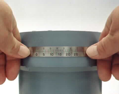 Metric Size Pi Tapes from 28mm to 3600mm, O.D. Measuring Tapes