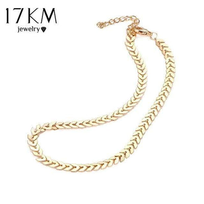 17KM Design Leaves Chain Sequins Choker Necklace Fashion Bohemian Jewelry For Woman Collar Statement Necklaces Party Jewelry - Euforia Jewels