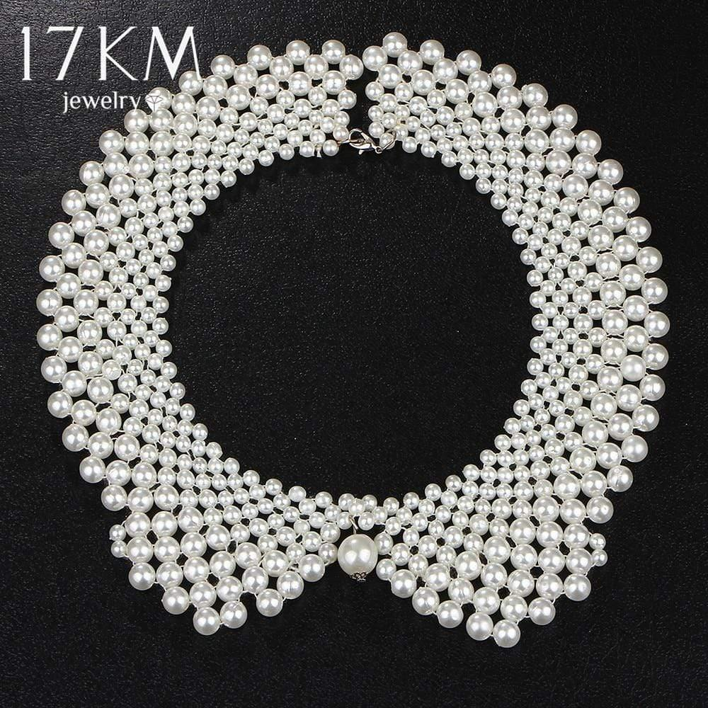 17KM Handmade Simulated Pearl Collar Necklace Choker Necklace Jewelry Wholesale ! - Euforia Jewels