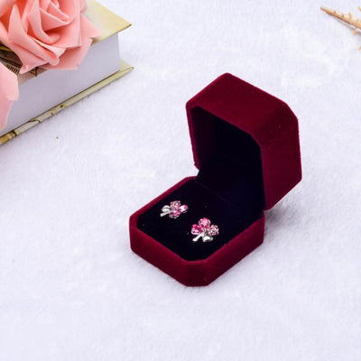 1pcs Squre Wedding Velvet Earrings Ring Box Jewelry Display Case Gift boxes Amazing 2017 New - Euforia Jewels