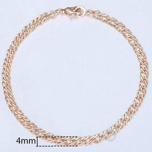 20cm Bracelets For Women Men 585 Rose Gold Curb Snail Foxtail Venitian Link Chains Mens Bracelets 2018 Fashion Jewelry KCBB1 - Euforia Jewels