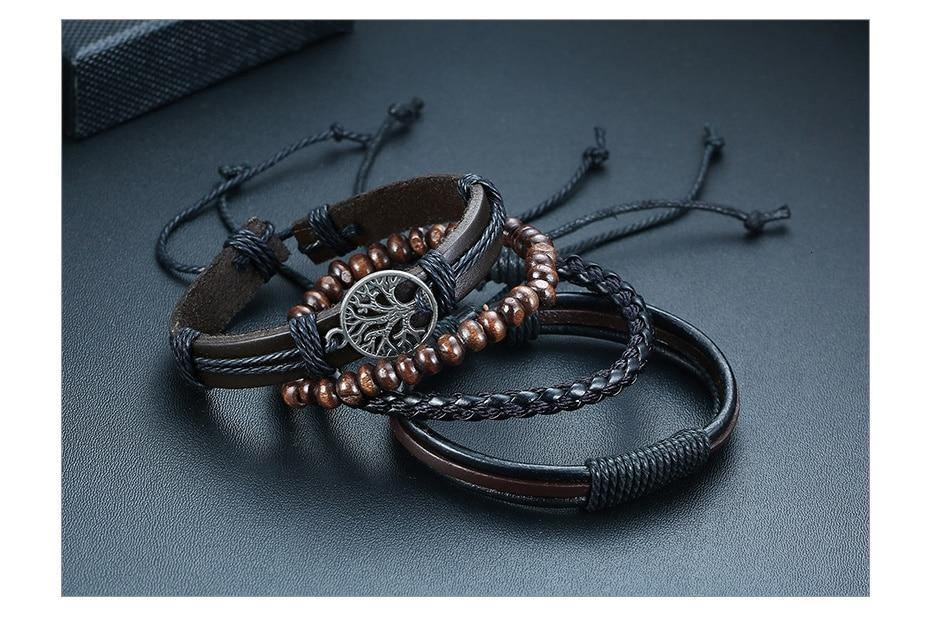 Tree of Life Men's Leather Bracelet