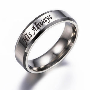 Her Forever His Always Promise Rings - Euforia Jewels
