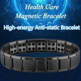 New Stainless Steel Black Germanium Magnetic Chain Link Bracelet for Women Men Health Care Energy Jewelry Snoring Bracelet