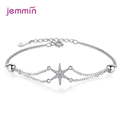 2020 New Fashion 925 Sterling Silver Geometric Bracelet For Women Birthday Party Gifts Cubic Zirconia Jewelry Wholesale