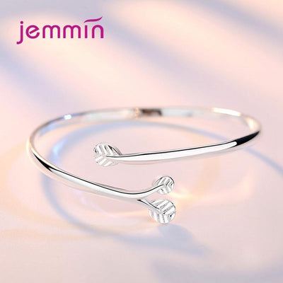 New Korean Trend Women 925 Sterling Silver Tree Branch Adjustable Bracelet Opening Bangle For Girls Summer Jewelry Lovers Gi