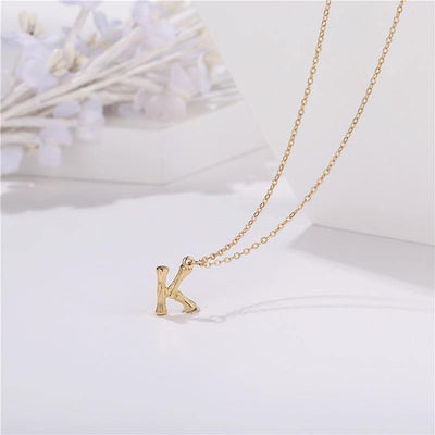 17KM Fashion Minimalist Initial Letter Necklaces For Women Vintage A-Z Letter Pendant Necklace Gold Chain Chokers Custom Jewelry
