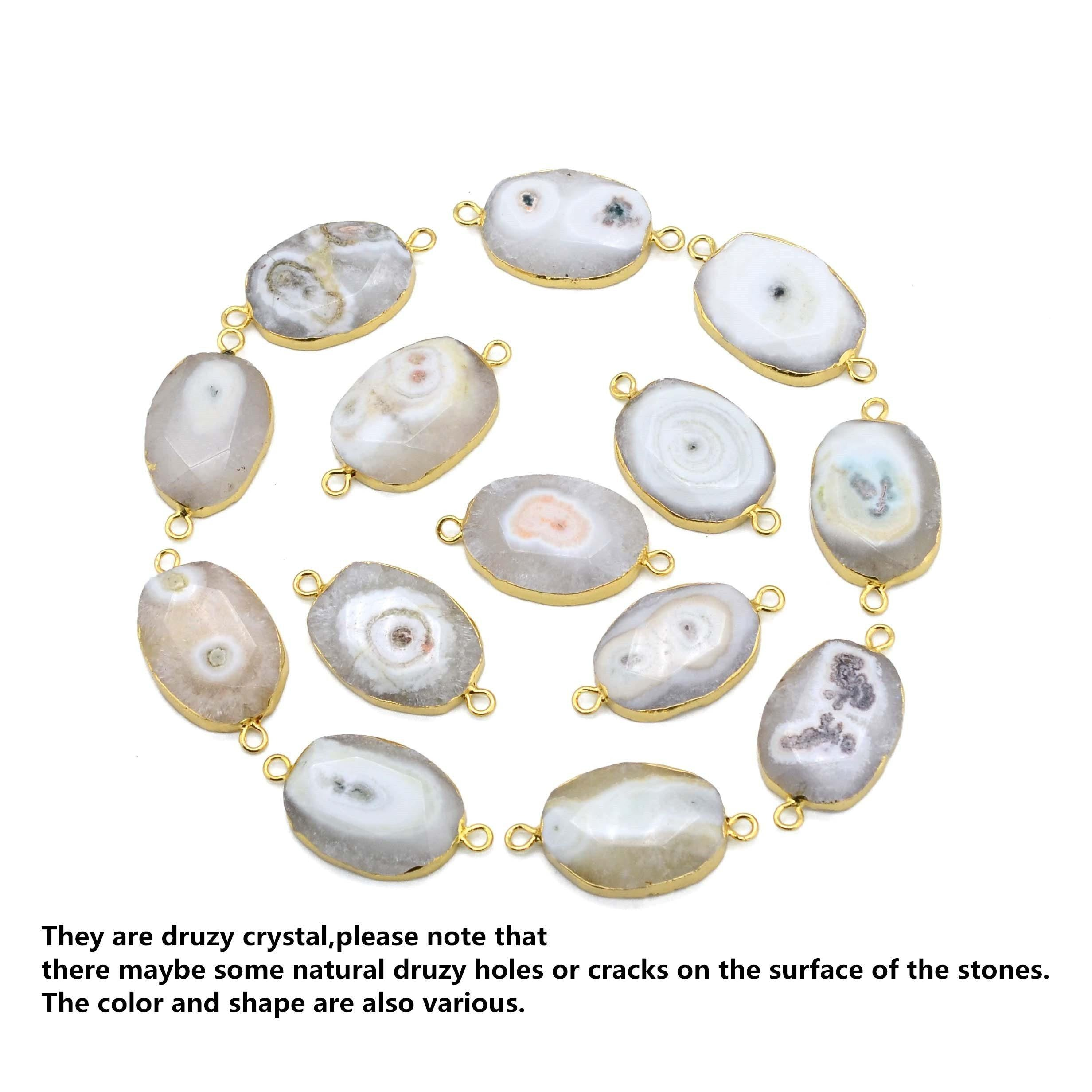Natural Agate Gemstone Handmade Bracelet (Gold-color) - Euforia Jewels