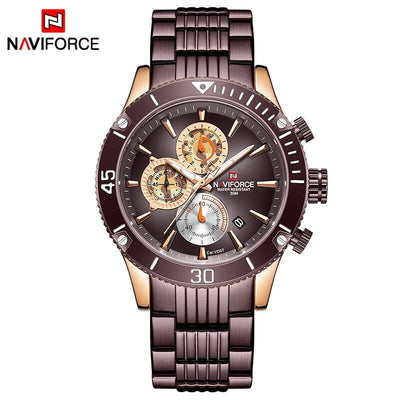 NAVIFORCE Fashion Sport Watches for Men Top Brand Luxury Military Steel Wrist Watch Male Clock Date Chronograph Wristwatch