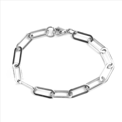New 304 Stainless Steel 7mm 6mm 4mm Link Cable Chain Bracelets Black Gold Silver Color Oval Jewelry For Women Men Gifts 19cm
