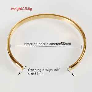 Mcllroy Cuff Bracelets Bangles Men Women Stainless Steel Gold Bangle Love Viking Unisex Pulseras Luxury Fashion Jewelry bangles