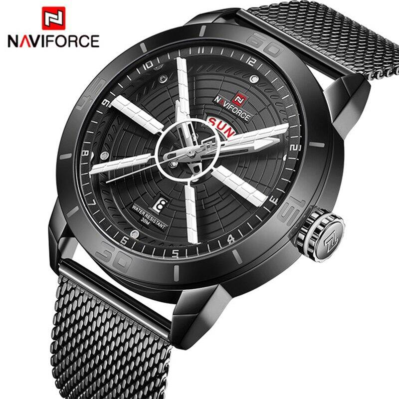 NAVIFORCE Mens Watches Waterproof Date Calendar Wristwatches Mens Business Casual Quartz Watches For Man Clock Reloj Hombre