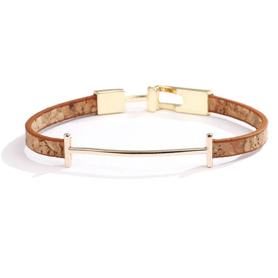 New Fashion Punk Cowhide Leather Men's Bracelet Bangles for Women Jewelry Magnetic Snap Charm Bracelet Gift